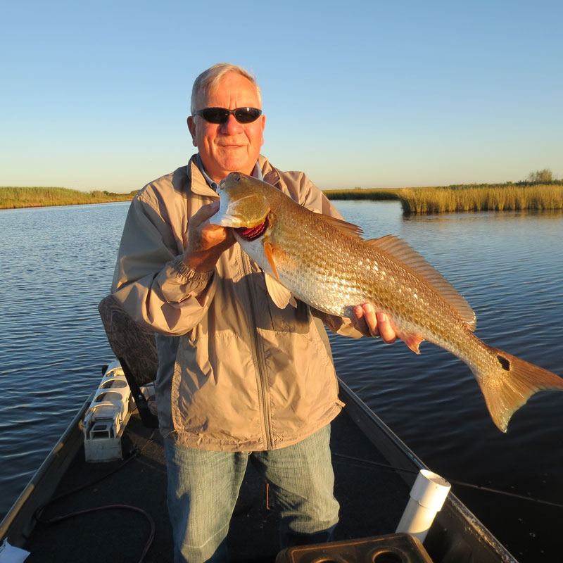 Jake has a great day catching these 30 inch red fish in for Lake charles fishing